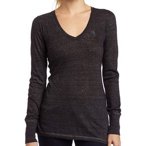 True Religion Sparkle Tri Blend Long Sleeve Tee